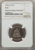 1876-CC 25C Fine 12 NGC. NGC Census: (14/371). PCGS Population: (28/616). CDN: $90 Whsle. Bid for problem-free NGC/PCGS...