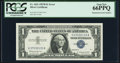 Error Notes:Mismatched Serial Numbers, Mismatched Serial Numbers Error Fr. 1621 $1 1957B Silver Certificate. PCGS Gem New 66PPQ.. ...