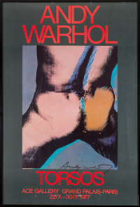 After Andy Warhol Andy Warhol: Torsos, exhibition poster, c. 1977 Offset lithograph in colors on paper 58-3/4 x 39-1