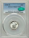 Mercury Dimes: , 1945-D 10C MS67+ Full Bands PCGS. CAC. PCGS Population: (349/7 and 33/0+). NGC Census: (390/13 and 9/0+). CDN: $150 Whsle. ...