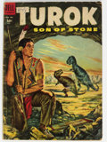 Golden Age (1938-1955):Miscellaneous, Four Color #596 Turok (Dell, 1954) Condition: GD/VG....
