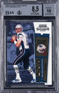 Football Cards:Singles (1970-Now), 2000 Playoff Contenders Tom Brady Rookie Ticket Autograph #144 BGS NM-MT+ 8.5 - BAS 10 Autograph. ...