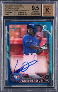 Baseball Cards:Singles (1970-Now), 2016 Bowman Chrome Vladimir Guerrero Jr Blue Refractor Autograph Numbered 48/150 #BCP55 BGS Gem Mint 9.5 - 10 Auto...