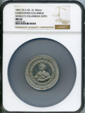Expositions and Fairs, 1892-93 Medal World's Columbian Exposition, Christopher Columbus, MS62 NGC. Eglit-55. Aluminum, 50 mm....