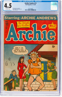 Archie Comics #11 (Archie, 1944) CGC VG+ 4.5 Off-white pages