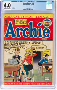 Archie Comics #41 (Archie, 1949) CGC VG 4.0 Off-white to white pages