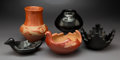American Indian Art:Pottery, Five Southwest Black and Redware Vessels. ... (Total: 5 Items)