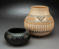 American Indian Art:Pottery, Two San Ildefonso Jars. Blue Corn (Crucita Calabaza). c. 1970 and 1990... (Total: 2 Items)