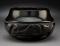 American Indian Art:Pottery, A Santa Clara Carved Blackware Jar. Helen Shupla...