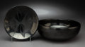 American Indian Art:Pottery, Two San Ildefonso Blackware Items . Marie and Santana Martinez. c. 1955... (Total: 2 Items)