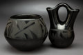 American Indian Art:Pottery, Two Southwest Blackware Vessels... (Total: 2 Items)