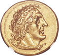 Ancients:Greek, Ancients: PTOLEMAIC EGYPT. Ptolemy I Soter (305-282 BC). AV trichryson or pentadrachm (24mm, 17.78 gm, 12h). NGC AU 5/5 - 3/5, Fine Styl...