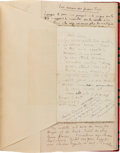 Books:Manuscripts, Tristan Tzara. Autograph Manuscripts on Dada. [Paris?]; [circa 1920s].. ...