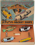 Collectible, A Tootsietoy Buck Rogers 25th Century Rocket Ships Set, John F. Dille Company, Chicago, 1937. Marks: TOOTSIETO...
