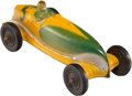 Collectible, A Sun Rubber Company Painted Rubber Toy Race Car, Barberton, Ohio, circa 1950. Marks: Molded MFD. BY THE SUN RUBBER COMPAN...