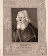 After Albrecht Dürer (German, 1471-1528) Hieronimus Holzschuher, c. 1843 Etching on paper 13-3/8 x 11-3/8 inches (3...