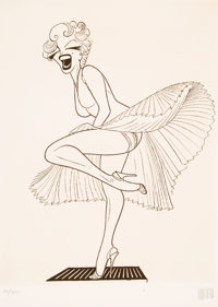 Al Hirschfeld (American, 1903-2003) Marilyn Monroe in the Seven Year Itch, 1983 Etching on wove pape