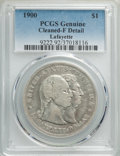 1900 $1 Lafayette Dollar -- Cleaning -- PCGS Genuine. Fine Details. NGC Census: (1/2540). PCGS Population: (4/3797). Min...