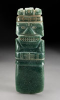 Pre-Columbian:Stone, A Large and Important Costa Rica Jade Axe God Pendant. c. 300-700 AD...