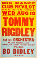 Music Memorabilia:Posters, Bo Diddley 1955 Rookie Concert Poster, Bottom-Billed and Misspelled.. ...