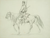 European School (19th Century) Group of Two Drawings Pencil on paper, each 13-1/4 x 10-1/8 inches