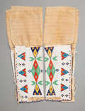 American Indian Art:Beadwork and Quillwork, A Pair of Sioux Women's Beaded Hide Leggings. c. 1900... (Total: 2 Items)