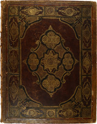A 19th century Leather Drawing Album 21 x 16-1/4 x 2 inches (53.3 x 41.3 x 5.1 cm)  PROPERTY FROM THE ESTATE
