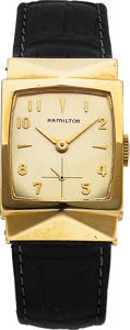 Timepieces:Wristwatch, Hamilton Dorsey, 14K Yellow Gold, Manual Wind, Circa 1955. ...