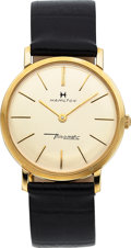 Timepieces:Wristwatch, Hamilton Thin-O-Matic 2600, 14K Yellow Gold, Automatic, Circa 1965. ...