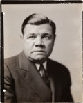Baseball Collectibles:Photos, 1942 Babe Ruth Original Studio Photograph, PSA/DNA Type 1. ...