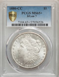 1880-CC $1 8 Over Low 7 MS65+ PCGS. PCGS Population: (209/56 and 18/9+). NGC Census: (0/0 and 0/0+). MS65