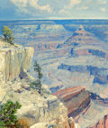 Fine Art - Painting, American, José Arpa (Spanish/American, 1858-1952). Grand Canyon,Arizona, circa 1925. Oil on canvas. 24 x 20 inches (61.0 x 50.8c...