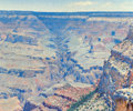 Paintings, José Arpa (Spanish/American, 1858-1952). Bright Angel Trail, Grand Canyon, circa 1925. Oil on canvas. 20 x 24 inches (50...