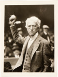 Baseball Collectibles:Photos, Circa 1922 Kenesaw Mountain Landis Throwing 1st Pitch at World Series Original Photograph by Paul Thompson, PSA/DNA Type 1....