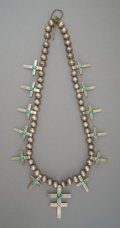 American Indian Art:Jewelry and Silverwork, A Southwest-Style Squash Blossom Necklace . c. 1965...