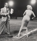 Photographs:Gelatin Silver, Frank Worth (American, 1923-2000). Marilyn Monroe and Ralph Edwards at the 1952 Hollywood Entertainers Baseball Game, 19...