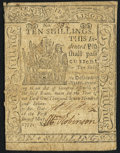 Colonial Notes:Delaware, Delaware May 1, 1777 10s Very Fine.. ...