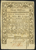 Colonial Notes:Rhode Island, Rhode Island May 1786 3s Very Fine-Extremely Fine.. ...