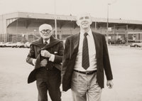 Andy Warhol (American, 1928-1987) Philip Johnson and David Whitney, 1984 Gelatin silver 7-7/8 x 9-7/8 inches (20.0 x