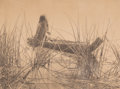 Photographs:Digital, Edward Sheriff Curtis (American, 1868-1952). Pomo Seed-Gathering Utensils and Canoe of the Tules-Pome (2 works), cir...