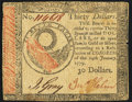 Colonial Notes:Continental Congress Issues, Continental Currency January 14, 1779 $30 Very Fine.. ...
