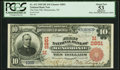 National Bank Notes:Wisconsin, Menomonie, WI - $10 1902 Red Seal Fr. 613 The First NB Ch. # (M)2851 PCGS Apparent About New 53.. ...