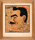 Political:3D & Other Display (1896-present), Thomas Dewey: Unique Hand-Crafted Folk Art Caricature.. ...