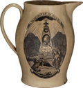 Political:3D & Other Display (pre-1896), George Washington: Memorial Liverpool Jug.. ...