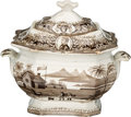 Political:3D & Other Display (pre-1896), William Henry Harrison: Log Cabin Hard Cider Sugar Bowl. ...