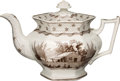 Political:3D & Other Display (pre-1896), William Henry Harrison: Large Columbian Star Teapot. . ...