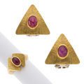 Estate Jewelry:Suites, Ruby, Gold Jewelry Suite, Boncompagni. ... (Total: 2 Items)
