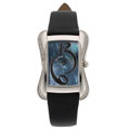 Estate Jewelry:Watches, Maurice Lacroix Lady's Diamond, Stainless Steel Watch. ...