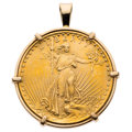Estate Jewelry:Pendants and Lockets, U.S. Gold Coin, Gold Pendant. ...