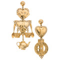 Estate Jewelry:Earrings, Diamond, Gold Earrings, Mouawad . ...